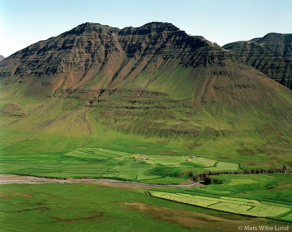 Djúpidalur séð til austurs, Akrahreppur / Djupidalur viewing east, Akrahreppur.