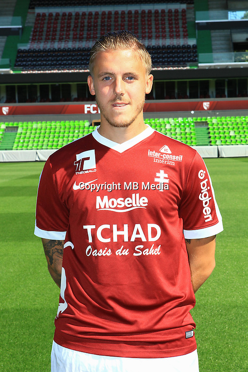 Thibaut Vion poses for a portrait during the Metz squad photo call for the 2016-2017 Ligue 1 season on September 15, 2016 in Metz, France<br /> Photo : Fred Marvaux / Icon Sport