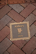Killers movie plaque on the Walk of Fame May 8, 2013 in Senoia, Georgia. Senoia is considered the Hollywood of the South where 24 movies and shows have been filmed.