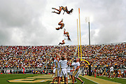 "University of Central Florida cheerleaders perform in the second half of their game against South Carolina at Bright House Networks Stadium in Orlando, Fl, Saturday, September 28, 2013. ""Flight"""