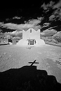 The San Lorenzo Church in Picuris Pueblo, New Mexico.