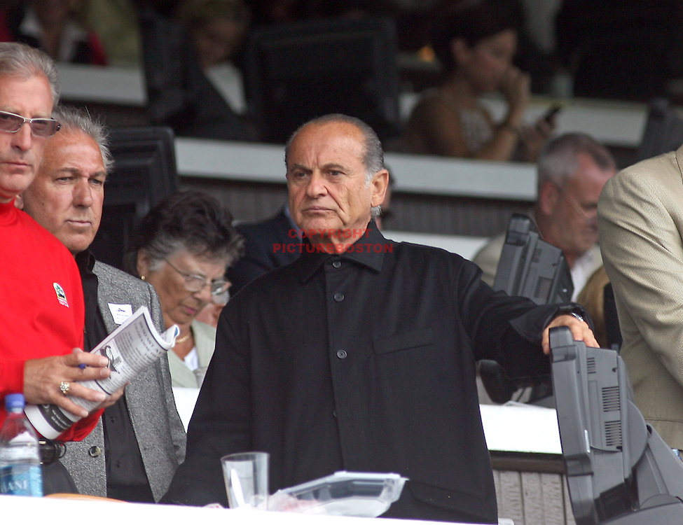 "(08/22/07-Saratoga Springs,NY) Joe Pesci, part owner of horse "" Little Miss Julien"" is seen after the horse came in dead last today at Saratoga. Photo Mark Garfinkel."