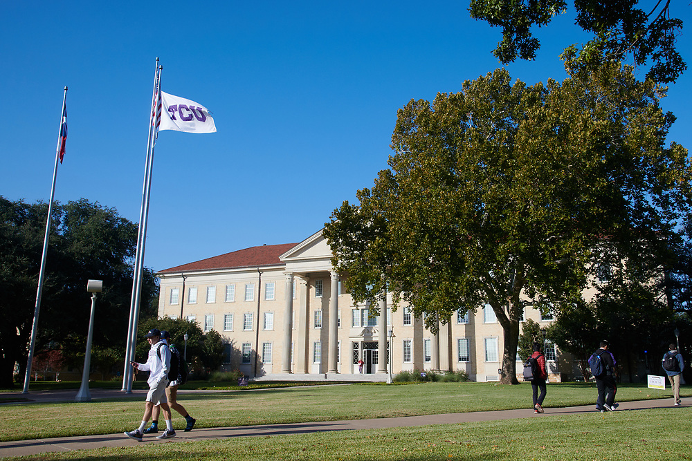 A general view of TCU in Fort Worth, Texas on November 1, 2017. (Cooper Neill for The New York Times)