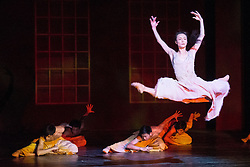 © Licensed to London News Pictures. 14/08/2013. Shanghai Ballet Company make their highly anticipated UK debut with performances of Jane Eyre, an original, innovative ballet production choreographed by Patrick de Bana. Picture shows: Fan Xiaofeng (Bertha). Photo credit: Tony Nandi/LNP