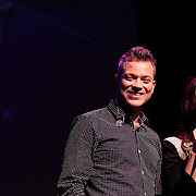 NLD/Amsterdam/20130211- Uitreiking Edison Pop 2013, Gers Pardoel en Daphne Bunskoek