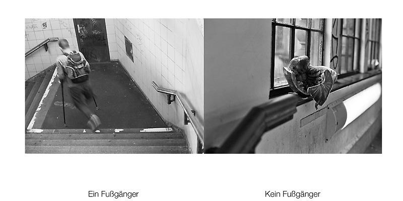 """2006 - Ein Fußgänger - Kein Fußgänger - Subway Berlin - Schlesisches Tor, in memoriam of""""Ein-Fußgänger"""" by Otto Steinert"""