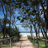 The walkway beside the beach on the Gold Coast at Miami in Australia