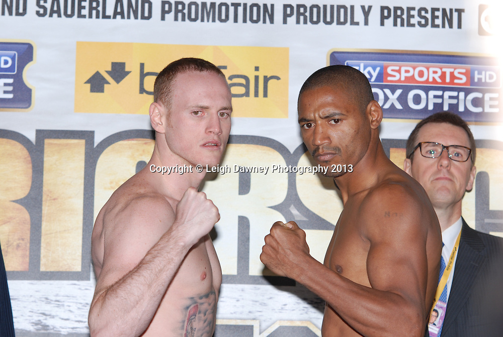 George Groves & Noe Gonzalez Alcoba at the Public Weigh In at London Piazza, 02 Arena, London, United Kingdom. 24.05.13. Credit © Leigh Dawney Photography 2013.