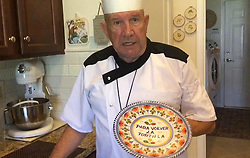 August 28, 2017 - USA - Armando Perez explains the special ''para volver la tortilla'' plate he uses to make Cuban breakfast tortillas: ''That means 'to turn the tortilla over. (Credit Image: © Suzanne Perez Tobias/TNS via ZUMA Wire)