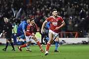 Nottingham Forest forward Ben Brereton (17) after scoring for Forest during the The FA Cup 3rd round match between Nottingham Forest and Arsenal at the City Ground, Nottingham, England on 7 January 2018. Photo by Jon Hobley.