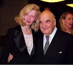 LORD & LADY WEIDENFELD OF CHELSEA at a reception in London on 23rd October 2000.OIC 60