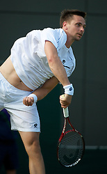 LONDON, ENGLAND - Saturday, June 25, 2011: Robin Soderling (SWE) in action during the Gentlemen's Singles 3rd Round match on day six of the Wimbledon Lawn Tennis Championships at the All England Lawn Tennis and Croquet Club. (Pic by David Rawcliffe/Propaganda)