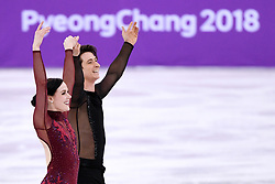 PYEONGCHANG, Feb. 12, 2018  Canada's Tessa Virtue (L) and Scott Moir compete during the ice dance free dance of figure skating team event at the 2018 PyeongChang Winter Olympic Games, in Gangneung Ice Arena, South Korea, on Feb. 12, 2018. Team Canada won the gold medal of figure skating team event with 73 points in total. (Credit Image: © Ju Huanzong/Xinhua via ZUMA Wire)