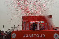 March 1, 2019 - Jebel Jais, United Arab Emirates - The Red Jersey after six stages, Primoz Roglic of Slovenia and Team Jumbo - Visma, celebrates his win of the sixth Rak Properties Stage of UAE Tour 2019, a 180km with a start from Ajman and finish in Jebel Jais. .On Friday, March 1, 2019, in Jebel Jais, Ras Al Khaimah Emirate, United Arab Emirates. (Credit Image: © Artur Widak/NurPhoto via ZUMA Press)