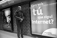 Barcelona, 2001: fermata metropolitana Sagrada Familia. <br /> &copy; Andrea Sabbadini