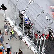 NASCAR Nationwide Larson Wreck