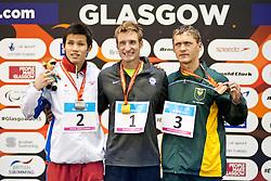 SNYDER Bradley, KIMURA Keiichi, HERBST Hendri USA, JPN, RSA at 2015 IPC Swimming World Championships -  Men's 50m Freestyle S11