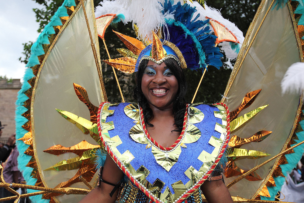 The annual Caribbean carnival made its way through the Nottingham from the City Centre to the Forest Recreation Ground where there was music, food, and a variety of entertainment