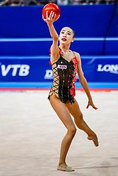 September 14, 2018 - Sofia, Bulgaria - Chisaki Oiwa of Japan   during  Individual All-Around Final at the Arena Armeec in Sofia at the 36th FIG Rhythmic Gymnastics World Championships  on 14/9/2018. (Credit Image: © Ulrik Pedersen/NurPhoto/ZUMA Press)