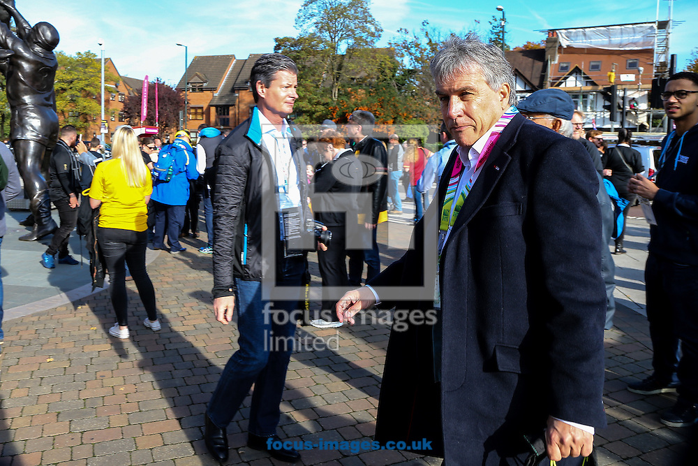 TV presenter John Inverdale arrives before the final of the 2015 Rugby World Cup at Twickenham Stadium, Twickenham<br /> Picture by Andy Kearns/Focus Images Ltd 0781 864 4264<br /> 31/10/2015