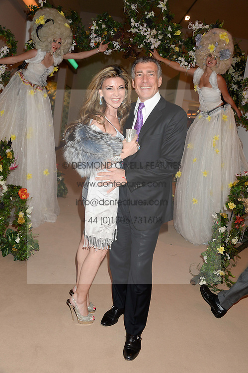 LISA TCHENGUIZ and STEVE VORSARI at the Masterpiece Midsummer Party in aid of Marie Curie Cancer Care held at The Royal Hospital Chelsea, London on 2nd July 2013.