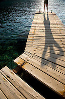 Person standing on jetty