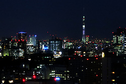 May 23, 2019 - Tokyo, Japan - Tokyo Sky Tree, standing at 634 metres, and high rise buildings are pictured in Tokyo, Japan May 25, 2019. (Credit Image: © Hitoshi Yamada/NurPhoto via ZUMA Press)