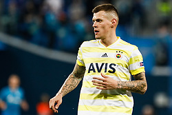 February 21, 2019 - Saint Petersburg, Russia - Martin Skrtel of Fenerbahce SK looks on during the UEFA Europa League Round of 32 second leg match between FC Zenit Saint Petersburg and Fenerbahce SK on February 21, 2019 at Saint Petersburg Stadium in Saint Petersburg, Russia. (Credit Image: © Mike Kireev/NurPhoto via ZUMA Press)