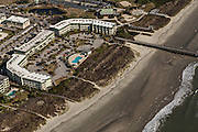 Aerial view of Sea Cabins Villa in Isle of Palms, SC.