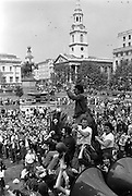 Peoples March for Jobs, Yorkshire and Liverpool to London. Trafalgar Square 31/05/1981