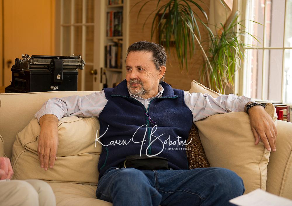 Mayor Ed Engler at his home in Laconia.  (Karen Bobotas/for the Laconia Daily Sun)