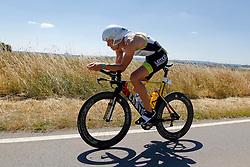 21.06.2014, Remich, LUX, Ergo Ironman 70.3, im Bild Der zweitplatzierte Nils Frommhold (Triathlon Potsdam) auf der Radstrecke // during the Ergo Ironman 70.3 in Remich, Luxembourg on 2014/06/21. EXPA Pictures © 2014, PhotoCredit: EXPA/ Eibner-Pressefoto/ Schueler<br /> <br /> *****ATTENTION - OUT of GER*****