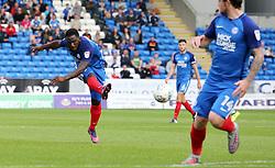Junior Morias of Peterborough United scores his second goal of the game - Mandatory by-line: Joe Dent/JMP - 23/09/2017 - FOOTBALL - ABAX Stadium - Peterborough, England - Peterborough United v Wigan Athletic - Sky Bet League One