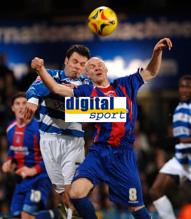 Photo: Daniel Hambury.<br />Crystal Palace v Reading. Coca Cola Championship.<br />20/01/2006.<br />Palace's Andrew Johnson and Reading's Graham Murty battle for the ball.