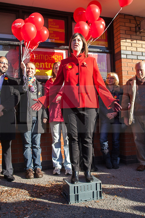 © Licensed to London News Pictures . 27/10/2012 . Manchester , UK . LUCY POWELL opens her campaign to become Manchester Central's first woman MP today (27th October 2012) . Photo credit : Joel Goodman/LNP