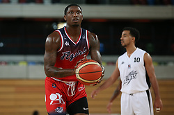Fred Thomas of Bristol Flyers with a free throw - Photo mandatory by-line: Arron Gent/JMP - 20/11/2019 - BASKETBALL - Copper Box Arena - London, England - London Lions v Bristol Flyers - British Basketball League Cup