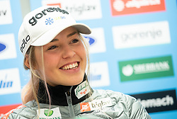 Anamarija Lampic during press conference of Slovenian Nordic Ski Cross country team before new season 2019/20, on Novamber 8, 2019, in SZS, Ljubljana, Slovenia. Photo by Vid Ponikvar / Sportida