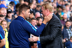 Tottenham Hotspur manager Mauricio Pochettino and Everton manager Ronald Koeman shake hands - Mandatory by-line: Robbie Stephenson/JMP - 09/09/2017 - FOOTBALL - Goodison Park - Liverpool, England - Everton v Tottenham Hotspur - Premier League