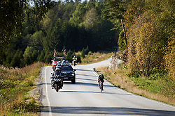 Shannon Malseed (AUS) solo during Ladies Tour of Norway 2019 - Stage 3, a 125 km road race from Moss to Halden, Norway on August 24, 2019. Photo by Sean Robinson/velofocus.com