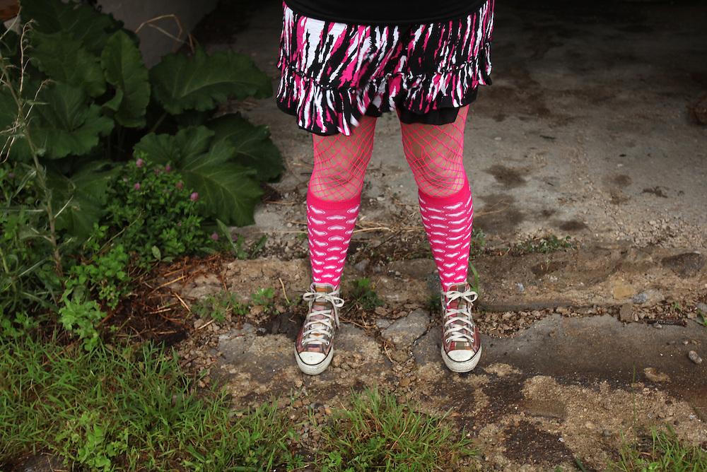 Tisha Butler aka Fhylis Ann Slammo. Cornfed Derby Dames.       .(Chris Bergin/The Star Press)