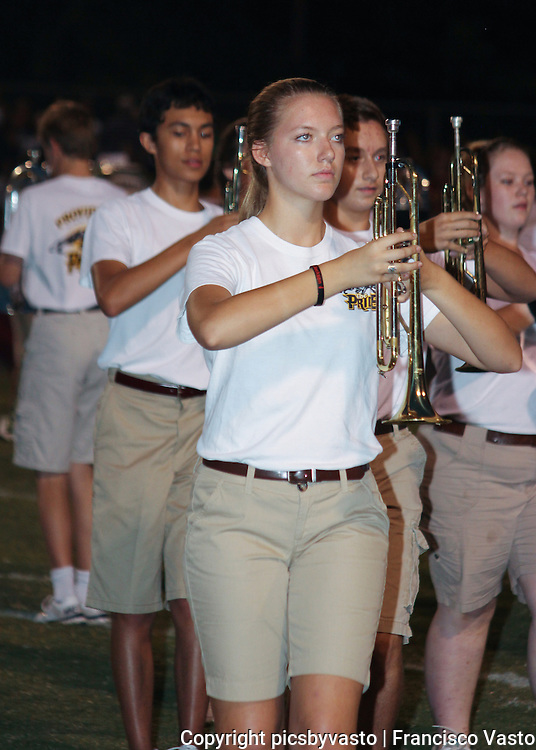 Providence High School Marching Band prepares and performs for the Providence High School vs Hough High School Friday night football game.