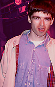 Noel Gallagher when still a roadie for the Inspiral Carpets, pre Oasis at the Hacienda, manchester, UK 1989