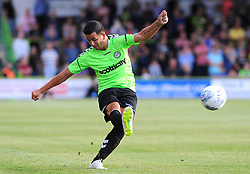 Lloyd James of Forest Green Rovers in action- Mandatory by-line: Nizaam Jones/JMP- 17/07/2018 - FOOTBALL - New Lawn Stadium - Nailsworth, England - Forest Green Rovers v Leeds United - Pre-season friendly