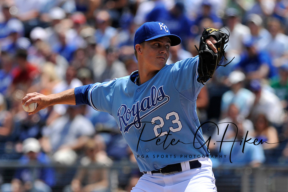 May 31, 2009: Starting pitcher Zack Greinke #23 of the Kansas City Royals delivers a pitch during the first inning against the Chicago White Sox at Kauffman Stadium in Kansas City, Missouri.  The White Sox defeated the Royals 7-4...