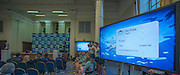 London. Great Britain.  <br /> General view of the conterence room/Hall.<br /> 2016 Varsity Boat Race. Crew announcement and  crew weigh-in. Central Hall. Westminster Central London,  Tuesday  01/03/2016  <br /> <br /> [Mandatory Credit, Peter Spurrier/ Intersport Images].