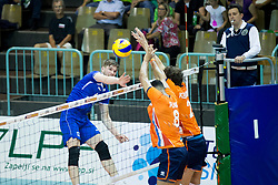 Jan Klobucar of Slovenia during volleyball match between national teams of Slovenia and Netherlands of 2018 CEV volleyball Godlen European League, on June 6, 2018 in Arena Bonifika, Koper, Slovenia. Photo by Urban Urbanc / Sportida
