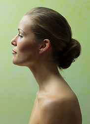 Profile of Beautiful Woman