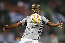 September 20, 2018 - Trnava, SLOVAKIA - Anderlecht's Knowledge Musona pictured in action during a match between Belgian soccer team RSC Anderlecht and Slovakian club Spartak Trnava, Thursday 20 September 2018 in Trnava, Slovakia, on day one of the UEFA Europa League group stage. BELGA PHOTO JASPER JACOBS (Credit Image: © Jasper Jacobs/Belga via ZUMA Press)