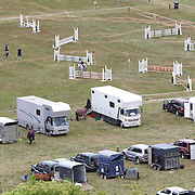 Show jumping taking place during the Cross Country event at the Wakatipu One Day Horse Trials at the Pony Club grounds,  Queenstown, Otago, New Zealand. 15th January 2012. Photo Tim Clayton