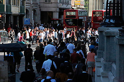 UK ENGLAND LONDON 21JUL15 - Crowds of commuters during rush hour in Liverpool Street station, city of  London.<br /> <br /> <br /> jre/Photo by Jiri Rezac / Greenpeace<br /> <br /> <br /> <br /> © Jiri Rezac 2015